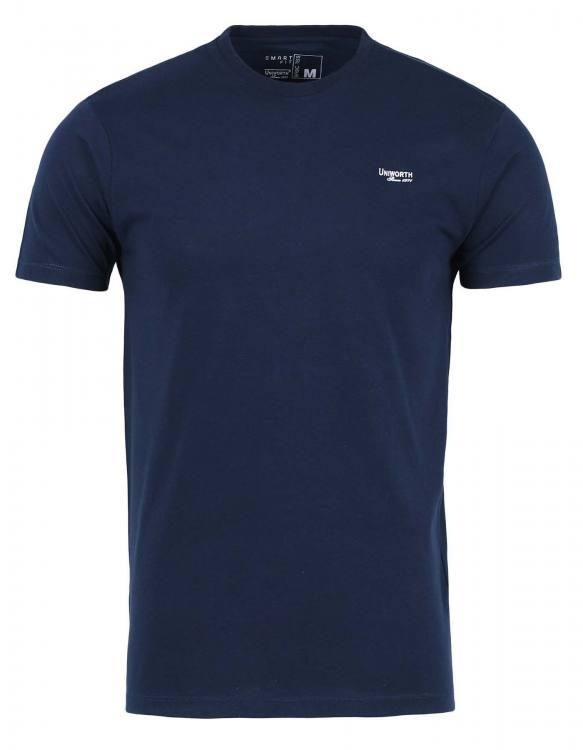 Navy Blue Plain Basic Tee
