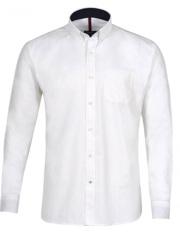 White Plain Full Sleeve Casual Shirt