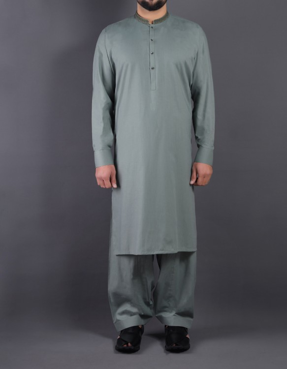 SAQAFAT LIGHT GREEN SHALWAR SUIT