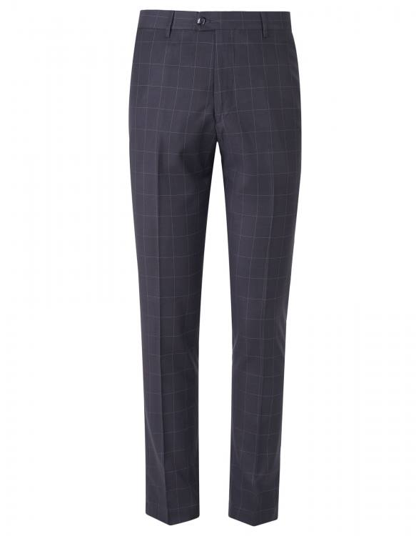 BLACK AND GREY BROAD CHECK 3 PIECE SUIT