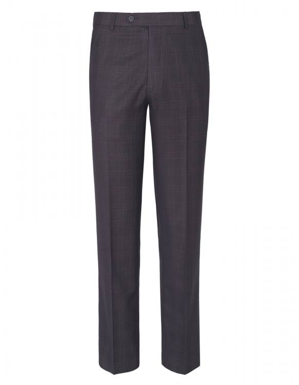 DARK GREY CHECK CLASSIC FIT FORMAL TROUSER